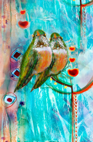 Love Birds by Ushana